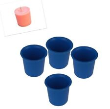 4 x Seamless Votive Candle Making Moulds, UK Made, Rigid Plastic, Craft. S7619