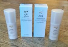 2 x Boots No7 Hydro Quench Face Serum (2 x 30ml) - Discontinued - Boxed