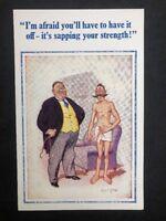 Vintage Postcard: Artist Signed: Donald McGill #A512: Doctors No 1604