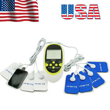 USA Digital Therapy Pulse Full Body Acupuncture Massager with 8 Pads Kit Device