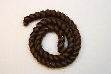All Cooped Up Medium Brown Curly Crepe Wool Theatrical Hair With Spirit Gum
