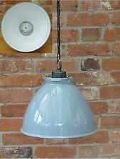 "1950's Bespoke 14"" Benjamin Industrial Vintage Enamel Pendant Lamp/Light REWIRED"