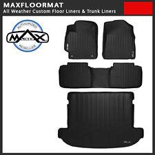 MAXFloormat All Weather Floor Mat Liner Combo Black Fit Nissan Murano 2015-2016