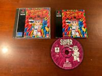 playstation 1 ps1 super street fighter 2 puzzle turbo the disc is excellent