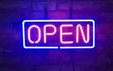"New Business Cafe Open Coffee Open Neon Light Sign Lamp Beer Pub 14"" Glass Bar"
