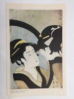 "Metropolitan Museum of Art Japanese Print, Kitagawa Utamaro ""A Beauty & Her..."