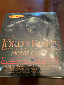 Topps LOTR Lord Of The Rings Fellowship of Ring Update Movie Factory Sealed Box