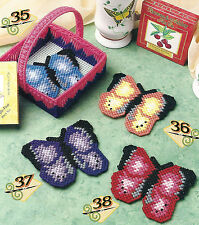 Plastic Canvas * Pattern Only * Butterfly Coasters ~ Very Pretty ~ ~ ~