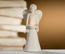 Gilde Deko Engel Figur Engelsfiguren Joao Engel mit Teelicht 40 cm sand