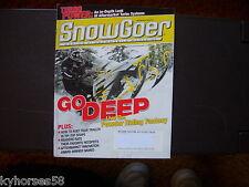 Snow Goer Magazine March 2004