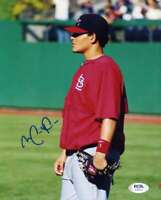 Yadier Molina PSA DNA Coa Hand Signed 8x10 Photo Autograph
