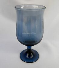 LIBBEY TULIP DUSKY BLUE GLASS WINE GOBLET(S) 5 5/8""