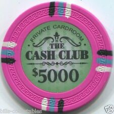 11 pc 11 color set 13.5 gm THE CASH CLUB 25c to $5000 poker chip sample set #239