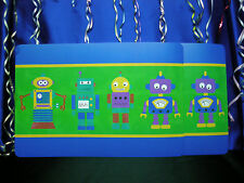 2 Robot PlaceMats For Kids Featuring 4 Different Cute Robots
