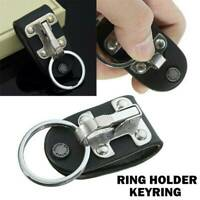 Stainless Steel Detachable Keychain Waist Belt Hanging Key Ring Buckle Anti-lost