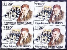 Emanuel Lasker German Chess WC for 27 years Sports, Burundi MNH Blk - D41