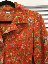 Johnny Was Biya Coat Jacket Embroidered Floral Euc Small