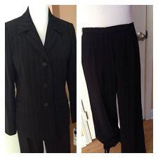 NWT Evan-Picone Women's Black/ White Striped Pant Suit Sz 8