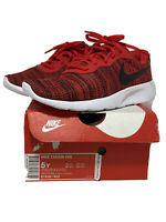NIKE Tanjun GS University Red Black White Shoes Youth Size 5Y 818381 602