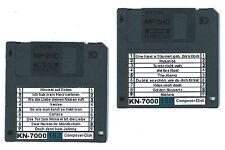 2 Disketten (158/162) mit Sequenzer-Songs für das Technics KN 7000