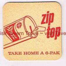 """1960s """"Zip Top"""" NEBRASKA Omaha STORZ BEER 3½"""" Tavern Trove"""