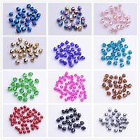 200 Stück Glasslperlen Kristall Glasschliffperlen BICONE Rhomben Perlen,4mm NEU