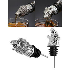 2xAnimal Head-Wine Pourer Spout,Wine Bottle Stopper for Bar and Home Accessories
