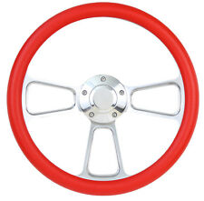 1984-1988 - Ford Cars - Polished Billet & Red Steering Wheel & Horn