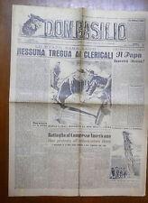 DON BASILIO 6 Aprile 1947 Patti Lateranensi Fulton J Sheen Dunn Giordani Franco