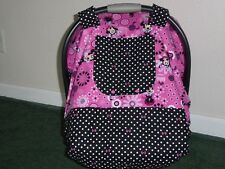 *MINNIE MOUSE*Fitted windproof insulated Handmade Baby Car Seat Canopy-Cover