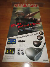 1990 SCOTT SIMPSON Yamaha Golf EOS-MZ The Secret to Victory Poster