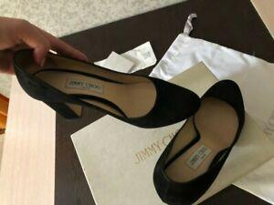 Jimmy choo billie 85.Classic suede black shoes high heels EUR 40/US 9, full set