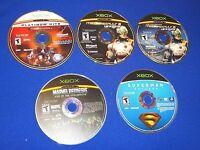 Lot of 4 Xbox Superhero Mech Games MechAssault 1&2 Superman Marvel Nemisis