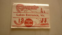 AUSTRALIAN OLD POSTCARD VIEW FOLDER. FROM THE 1950s LAKES ENTRANCE VICTORIA
