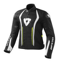 FJT188 REVIT GIACCA AIRFORCE  BLACK-NEON YELLOW TAGLIA XS REV'IT