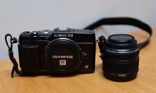 BLACK OLYMPUS PEN E-P5 CAMERA & M.ZUIKO DIGITAL 14-42mm LENS (f3.5-5.6 II R)