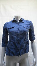 Womens Voice Button Down Blue Shirt Size L