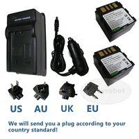 2 PACK Battery + Charger for BN-VF707U JVC GR-D290 GR-D260EK GZ-MG77EK GZ-MG57EK