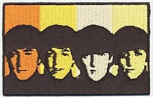 The Beatles Heads in Bands  iron on/sew on cloth patch (ro)