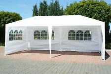 New Garden 6M x 3M Party Tent Marquee Gazebo TWO SUPPORT BEAMS Waterproof White