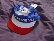 casquette de la  coupe du monde de Football   1998 neuve d'époque. France