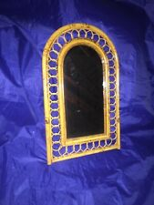 "Vintage Decorative Bamboo Vanity Mirror 13"" X 22"""