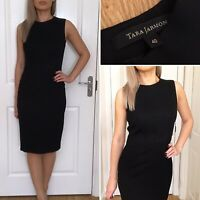 Tara Jarmon Black Pencil Wool Dress Size 40 UK 10/12 Career Office Formal