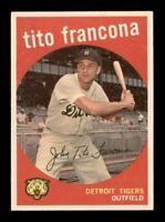 1959 Topps Set Break # 268 Tito Francona EX-MINT *OBGcards*