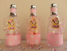 Minnie Mouse| Baby Shower Decoration| 12 Champagne Bottles| Favors| It's a Girl