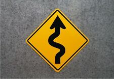 CURVY ROAD SIGN -  Aluminum Highway Plaque  -  Garage Decor  - Playhouse