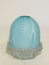 Clarke's Fairy Lamp, Blue Nailsea Glass. Excellent