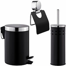Tectake Set Salle de bain Brosse pour Toilettes Porte-papier Toilette...