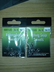 20x SEYMO ROLLING SNAP SWIVELS ANTI REFLECTIVE COATING HIGH CARBON STEEL