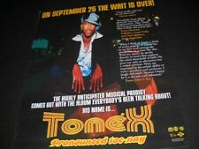 Tonex highly anticipated musical prodigy Pronounced. 2000 Promo Poster Ad